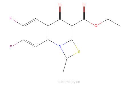 CAS:113046-72-3_6,7-二氟-1-甲基-4-氧代-4H-[1,3]噻嗪[3,2-a]并喹啉-3-羧酸乙酯的分子结构