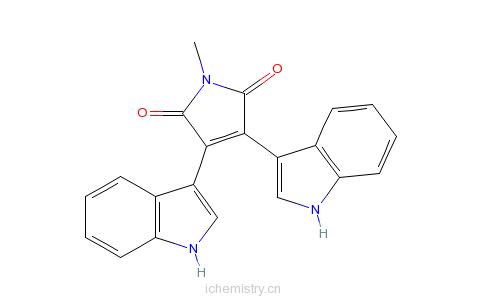 CAS:113963-68-1_双吲哚马来酰亚胺V的分子结构