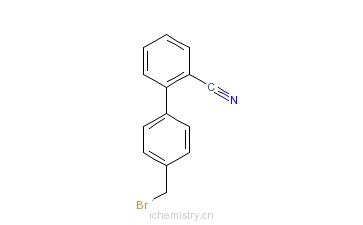 CAS:114772-54-2_2-氰基-4'-溴甲基联苯的分子结构
