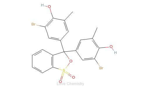 CAS:115-40-2_溴甲酚紫的分子结构