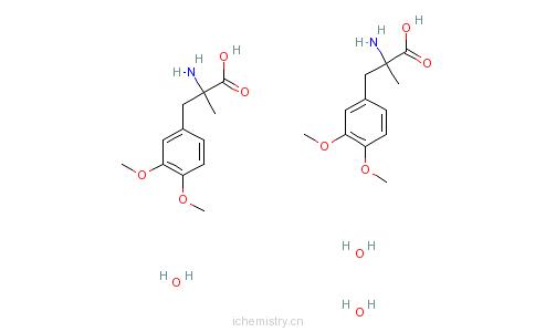 CAS:115217-60-2_3,4-二甲基-L-甲基多巴的分子结构