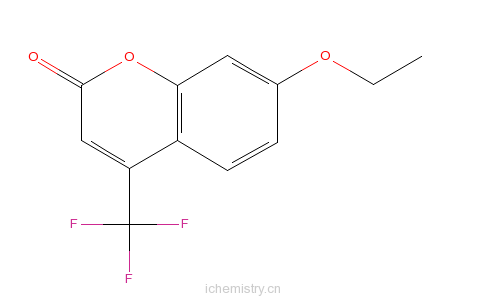 CAS:115453-82-2_7-乙氧基-4-(三氟甲基)香豆素的分子结构