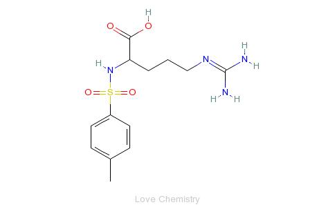 CAS:1159-15-5_N-对甲苯磺酰基-L-精氨酸的分子结构