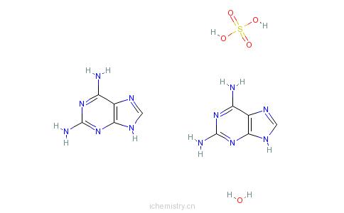 CAS:116295-72-8_2,6-二氨基嘌呤半硫酸盐半水合物的分子结构