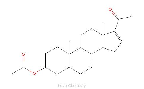 CAS:1169-20-6_3beta-羟基孕甾-16-烯-20-酮-3-醋酸酯的分子结构