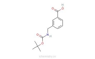CAS:117445-22-4_3-(N-Boc-氨甲基)苯甲酸的分子结构