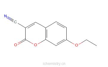 CAS:117620-77-6_3-氰基-7乙氧基香豆素的分子结构
