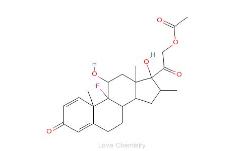 CAS:1177-87-3_醋酸地塞米松的分子结构
