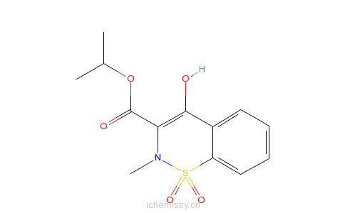 CAS:118854-48-1_4-羟基-2-甲基-2H-1,2-苯并噻嗪-3-甲酸异丙酯1,1-二氧化物的分子结构