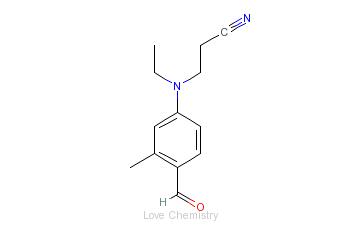 CAS:119-97-1_4-(N-乙基-N-氰乙基)氨基-2-甲基苯甲醛的分子结构