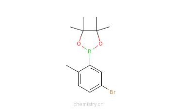 CAS:1192051-39-0_5-溴-2-甲基苯硼酸频那醇酯的分子结构