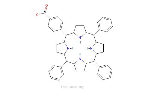 CAS:119730-06-2_5-(4-甲氧基羰基苯基)-10,15,20-三苯基-21H,23H-卟吩的分子结构