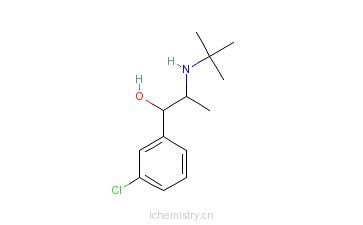 CAS:119802-68-5_3-氯-alpha-[1-(叔丁基氨基)乙基]苯甲醇的分子结构