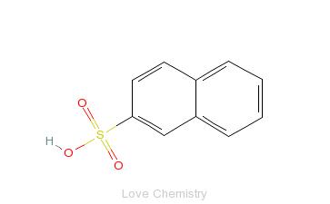 CAS:120-18-3_2-萘磺酸的分子结构