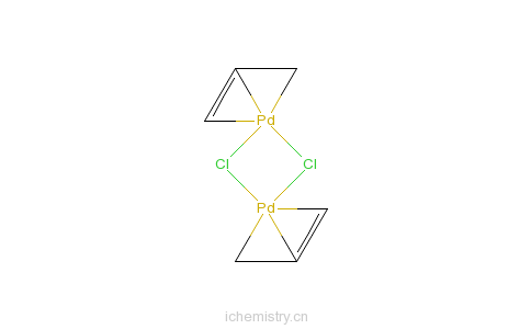 CAS:12012-95-2_氯化烯丙基钯(II)二聚物的分子结构