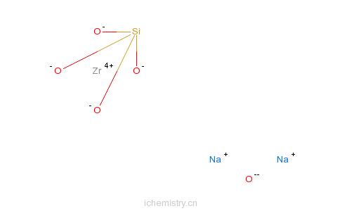 CAS:12027-83-7_锆硅酸钠的分子结构