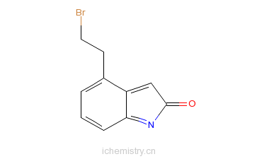 CAS:120427-96-5_4-(2-溴乙基)-2-吲哚酮的分子结构