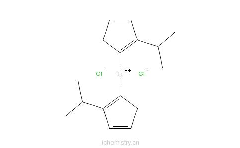 CAS:12130-65-3_双(异丙基环戊二基)二氯化钛的分子结构