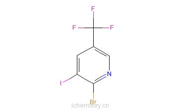 CAS:1214323-90-6_2-溴-3-碘-5-(三氟甲基)吡啶的分子结构