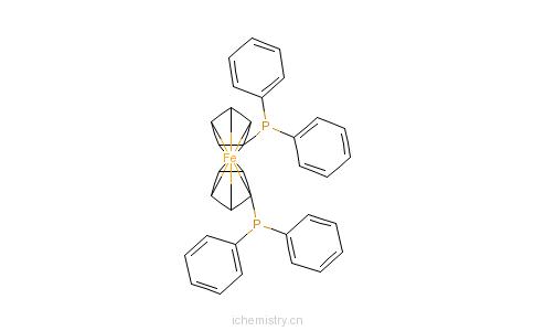 CAS:12150-46-8_1,1'-双(二苯基膦)二茂铁的分子结构
