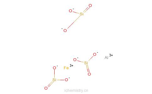 CAS:12178-41-5_硅酸铁铝的分子结构