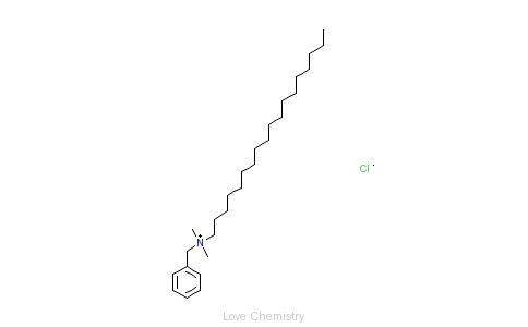 CAS:122-19-0_十八烷基二甲基苄基氯化铵的分子结构