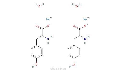 CAS:122666-87-9_L-酪氨酸二钠盐的分子结构