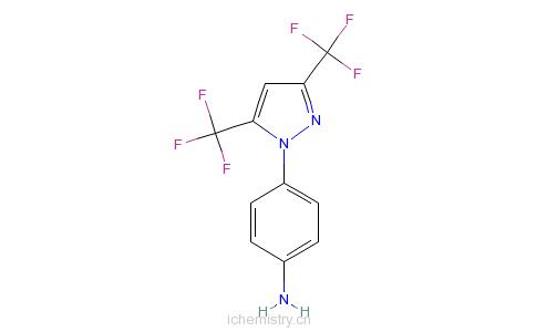 CAS:123066-64-8_4-(3,5-双(三氟甲基)-1H-吡唑-1-基)-苯胺的分子结构