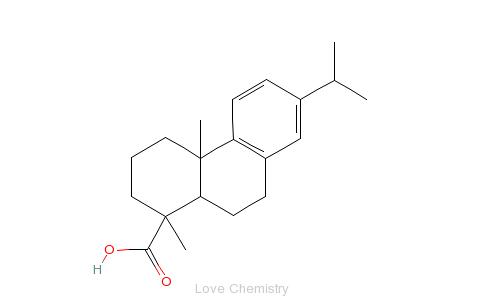 CAS:1231-75-0_(+)-脱氢枞酸的分子结构