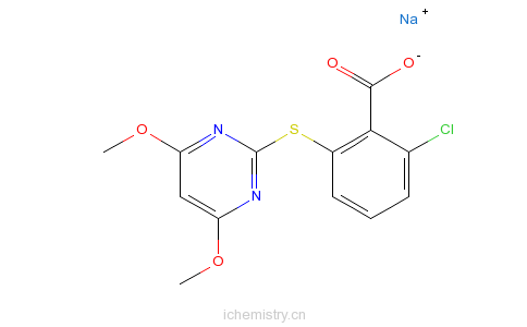CAS:123343-16-8_嘧草硫醚的分子结构