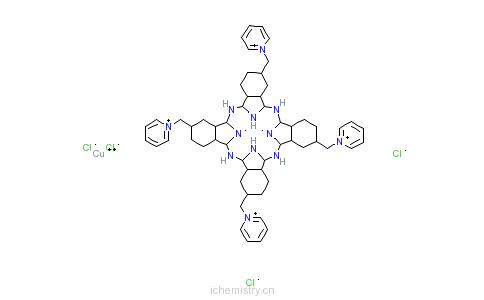 CAS:123439-83-8_阿尔新蓝吡啶变体的分子结构