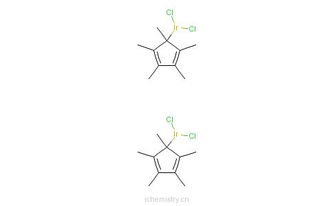 CAS:12354-84-6_二氯(五甲基环戊二烯基)合铱(III)二聚体的分子结构