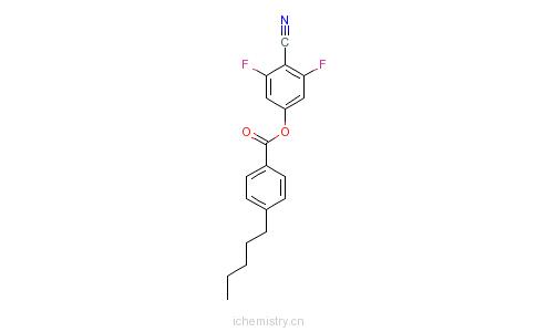 CAS:123843-69-6_4-CYANO-3,5-DIFLUOROPHENYL 4-PENTYL-BENZOATE的分子结构