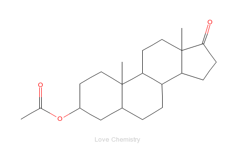 CAS:1239-31-2_醋酸去氢表雄酮的分子结构