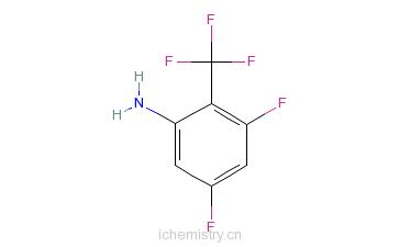 CAS:123973-33-1_3,5-二氟-2-(三氟甲基)苯胺的分子结构