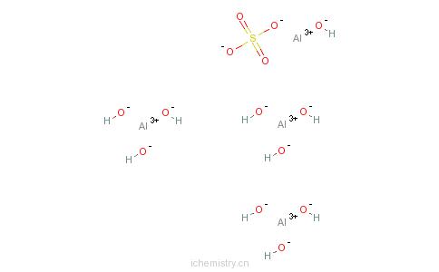 CAS:12428-64-7_碱式硫酸铝的分子结构