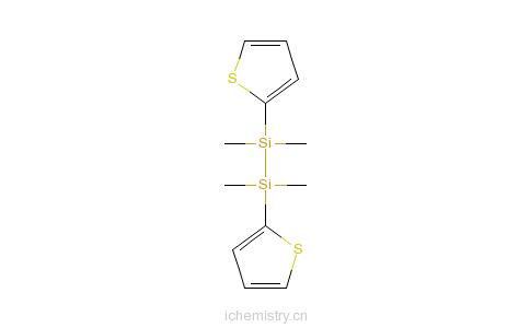 CAS:124733-24-0_二(2-噻吩)-1,1,2,2-四甲基二硅烷,97%的分子结构