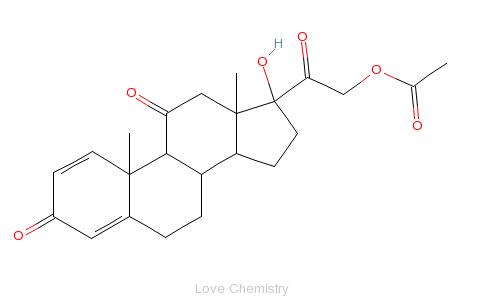 CAS:125-10-0_醋酸泼尼松的分子结构