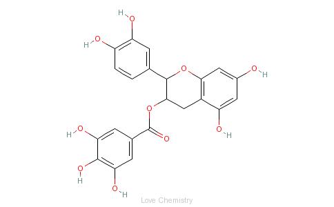 CAS:1257-08-5_表儿茶素没食子酸酯的分子结构