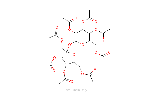 CAS:126-14-7_蔗糖八乙酸酯的分子结构