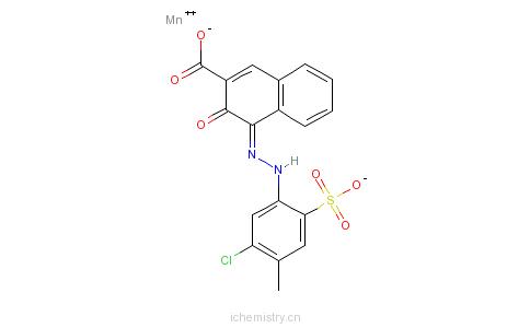 CAS:12688-94-7_4-[(5-氯-4-甲基-2-磺苯基)偶氮]-3-羟基-2-萘甲酸(2-)-合锰(2-)的分子结构