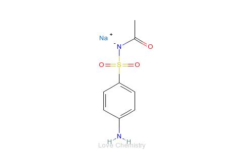 CAS:127-56-0_磺胺乙酰钠的分子结构