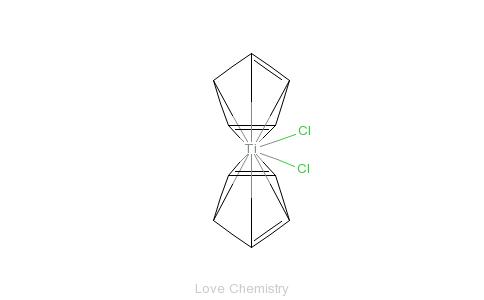 CAS:1271-19-8_二氯二茂钛的分子结构