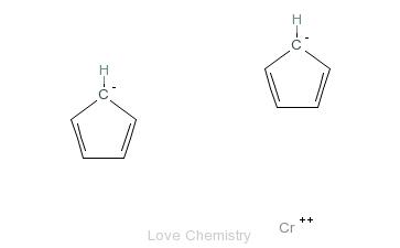 CAS:1271-24-5_双(环戊二烯)铬的分子结构