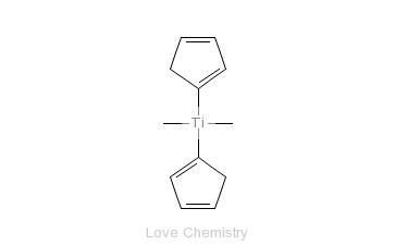 CAS:1271-66-5_双环戊二烯基二甲基钛的分子结构