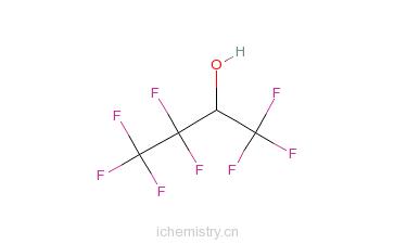 CAS:127256-73-9_1,1,1,3,3,4,4,4-八氟-2-丁醇的分子结构