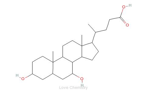 CAS:128-13-2_熊去氧胆酸的分子结构