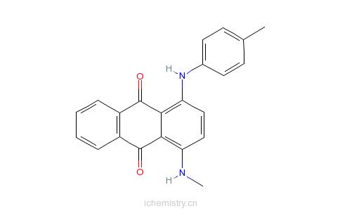 CAS:128-85-8_1-甲氨基-4-对甲苯氨基蒽醌的分子结构
