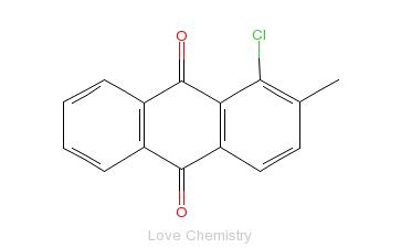 CAS:129-35-1_1-氯二甲基蒽醌的分子结构