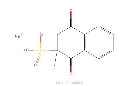 CAS:130-37-0_亚硫酸氢钠甲萘醌的分子结构